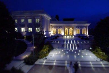 Villa Orsini di notte, riprese dall'alto