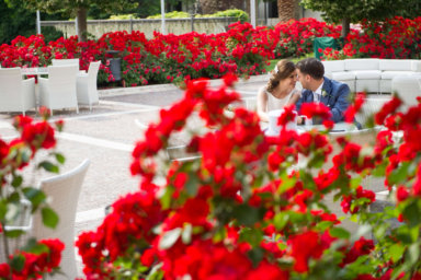 Gli addobbi floreali per il ricevimento di nozze
